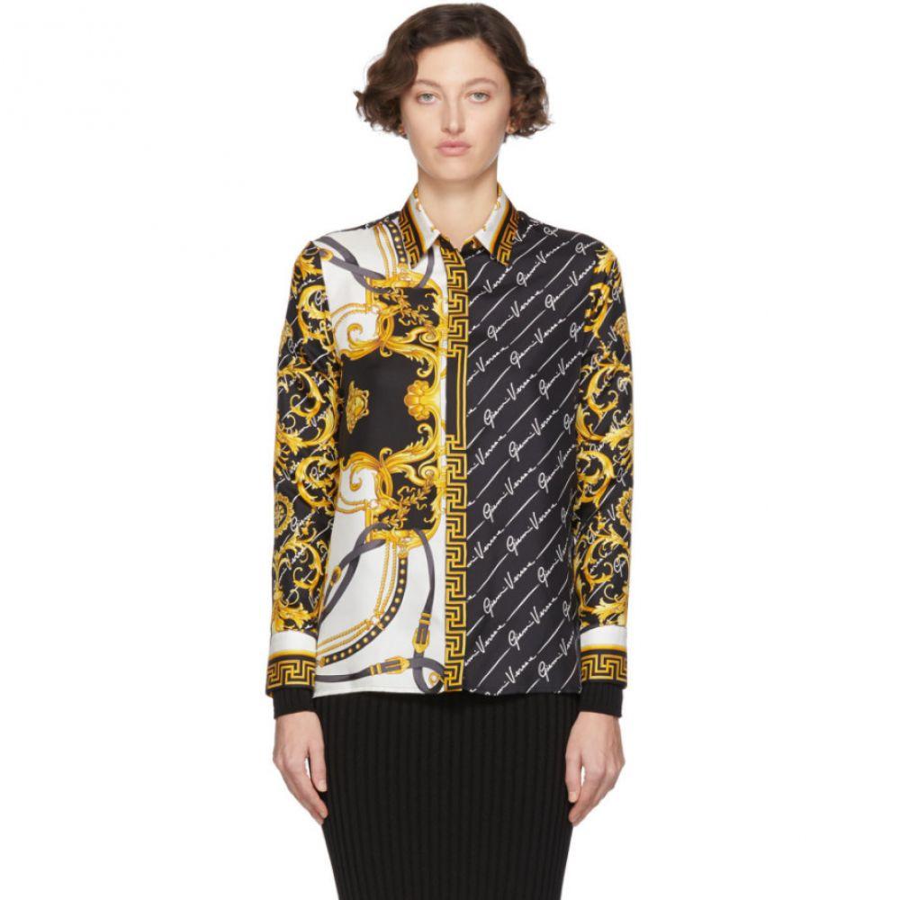 ヴェルサーチ Versace レディース ブラウス・シャツ トップス【Multicolor Barocco Signature Shirt】Multi