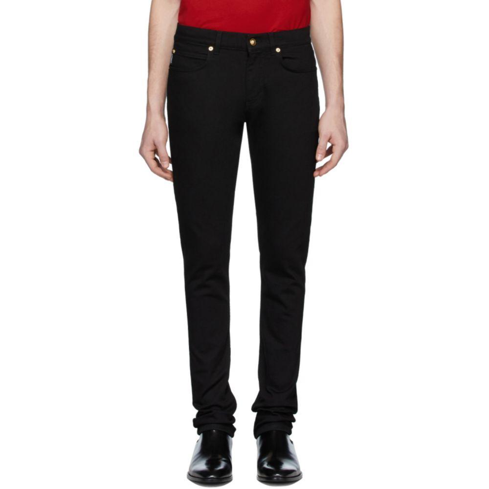 ヴェルサーチ Versace メンズ ジーンズ・デニム ボトムス・パンツ【Black Embroidered Barocco Jeans】Black