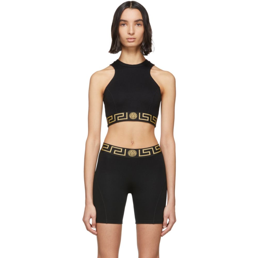 ヴェルサーチ Versace Underwear レディース タンクトップ メデューサ トップス【Black Medusa Tank Top】Black