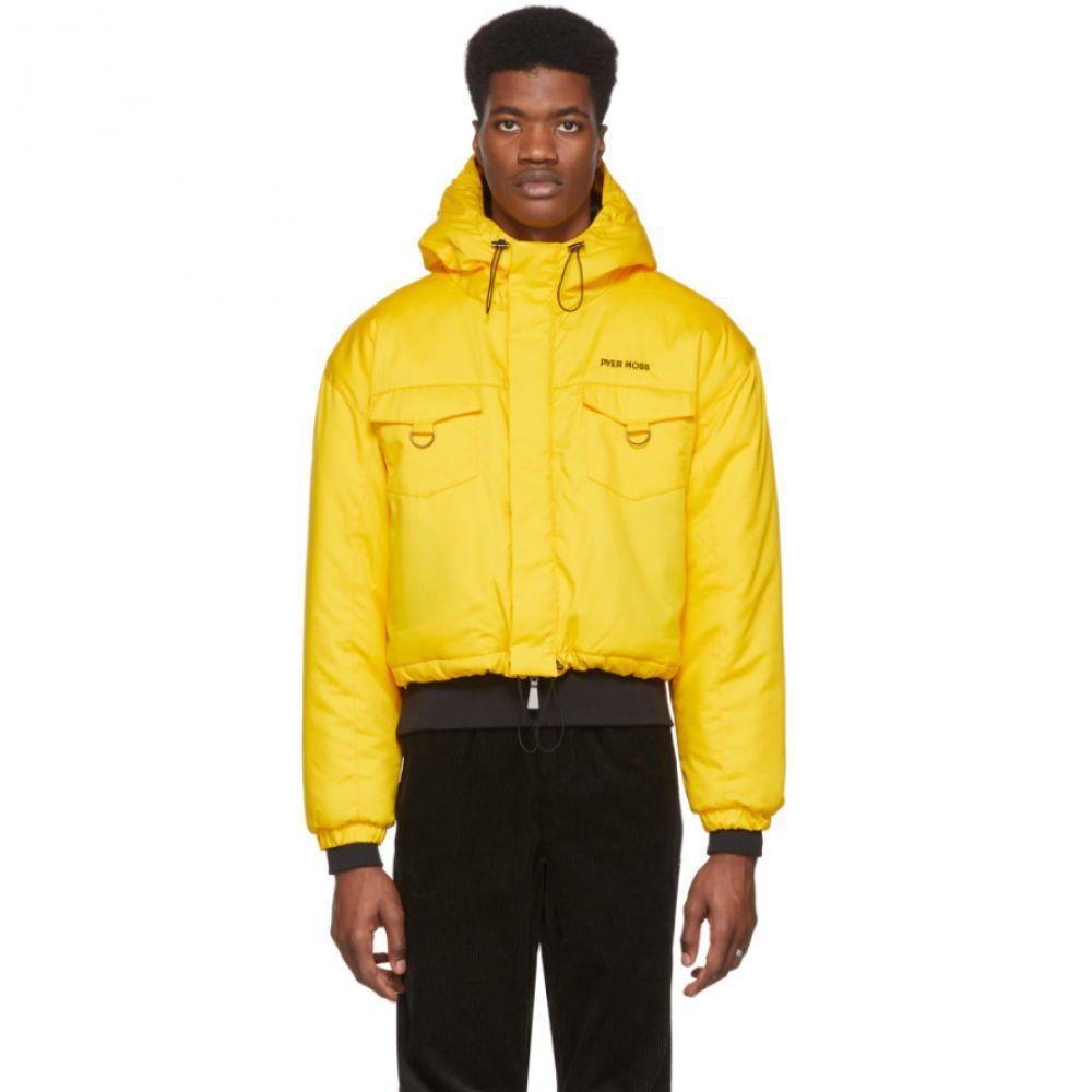 パイヤー モス Pyer Moss メンズ ダウン・中綿ジャケット アウター【Yellow Cropped Puffer Jacket】Yellow