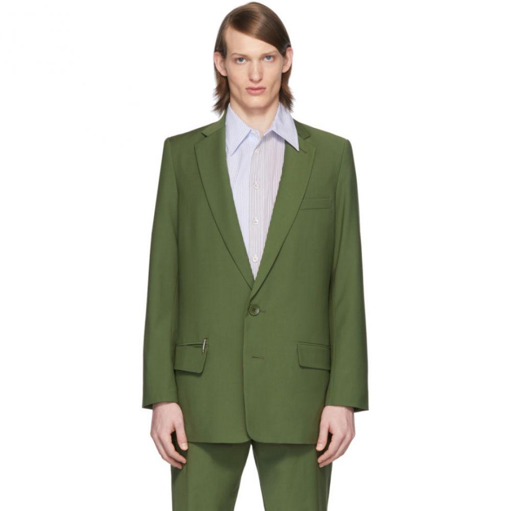 ティビ Tibi メンズ スーツ・ジャケット アウター【SSENSE Exclusive Green Eamon Long Blazer】Army green