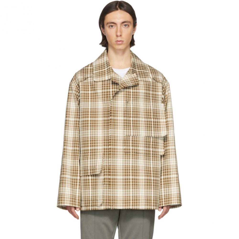 メゾン マルジェラ Maison Margiela メンズ ジャケット アウター【SSENSE Exclusive Brown Table Cloth Jacket】Brown check