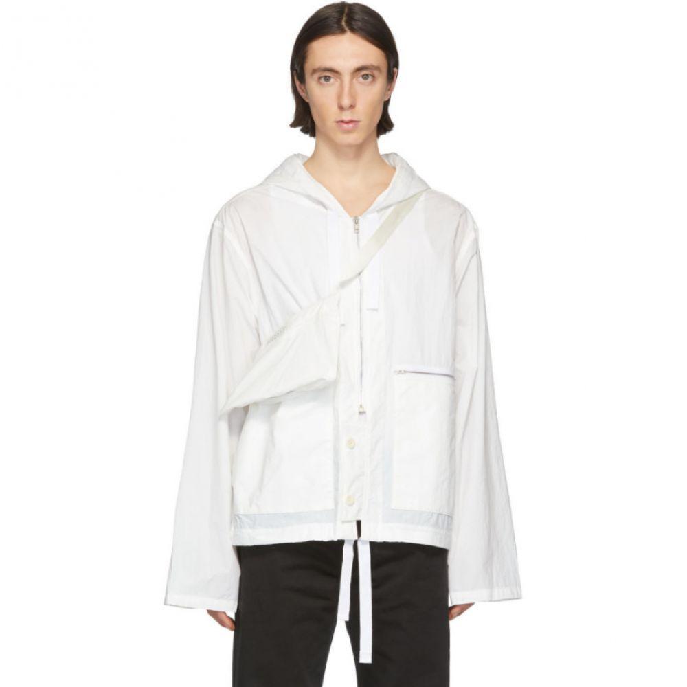 メゾン マルジェラ Maison Margiela メンズ ジャケット アウター【Off-White Recycled Nylon Sports Jacket】Off-White