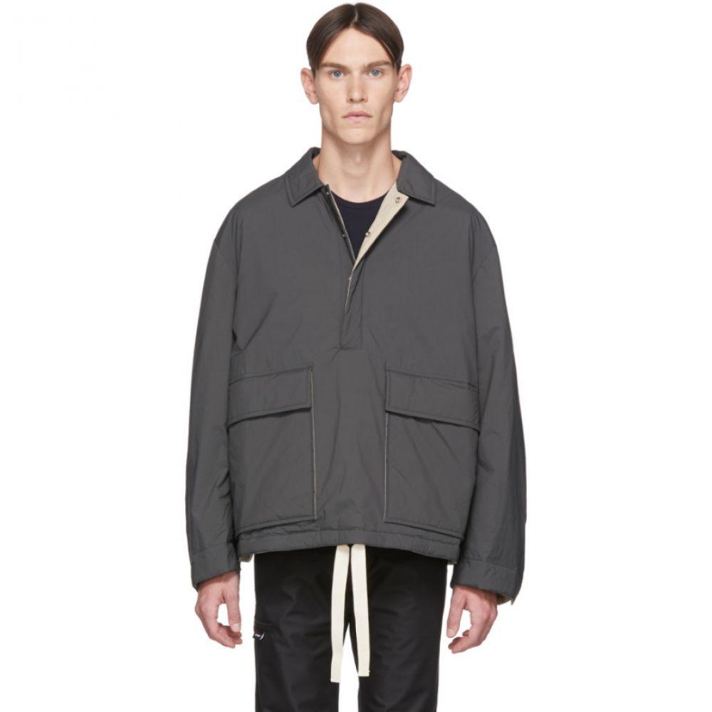 ジル サンダー Jil Sander+ メンズ ジャケット アウター【Grey Ripstop Jacket】Charcoal