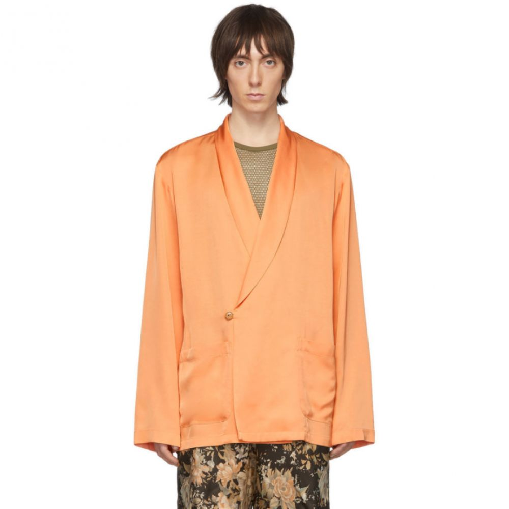 ドリス ヴァン ノッテン Dries Van Noten メンズ スーツ・ジャケット アウター【Orange Charles Shirt Blazer】Peach