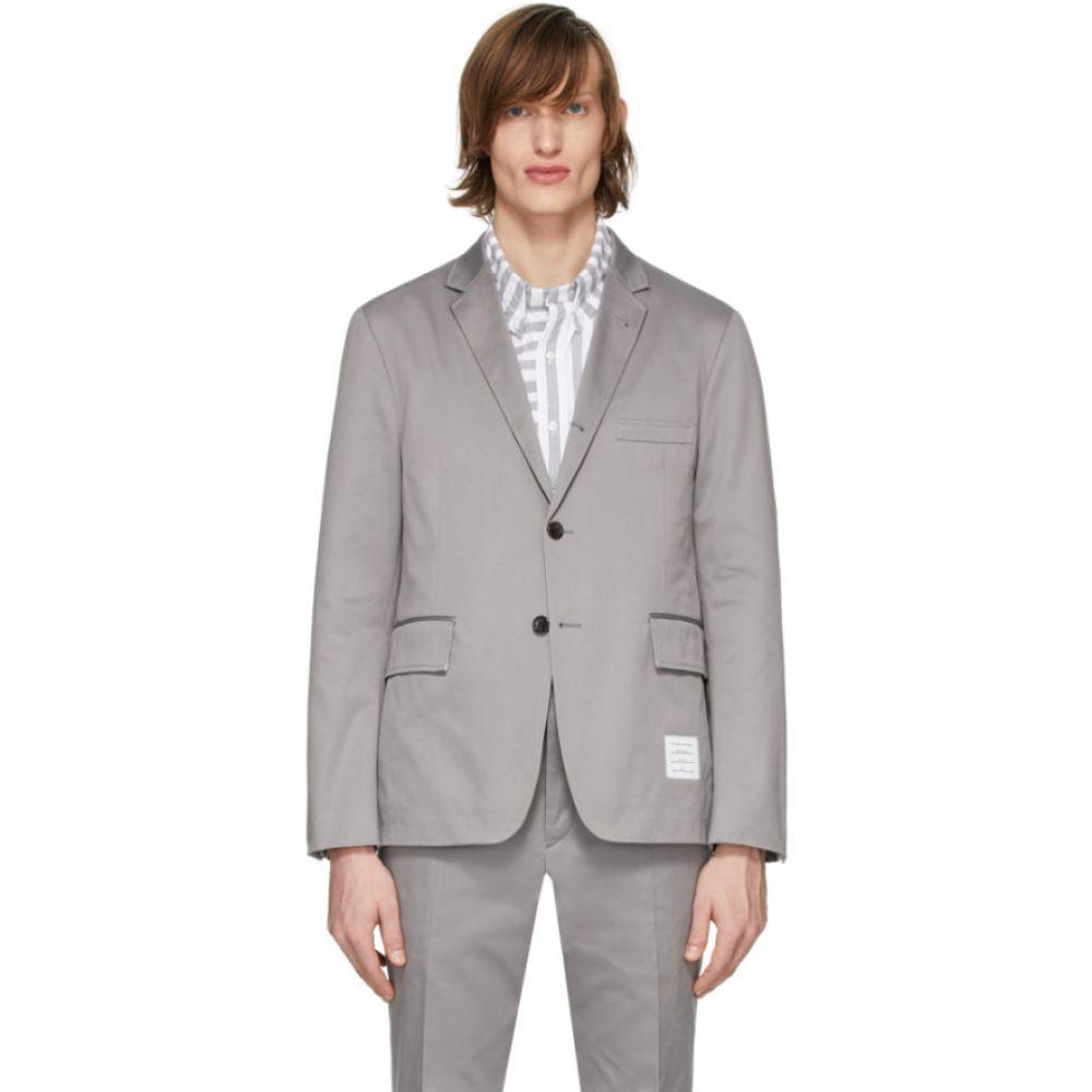 トム ブラウン Thom Browne メンズ スーツ・ジャケット アウター【Grey Unconstructed Classic Blazer】Medium grey