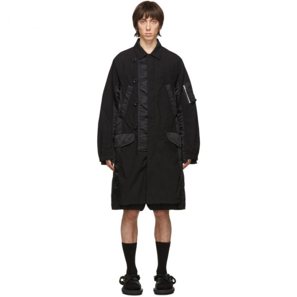サカイ Sacai メンズ コート アウター【Black Fabric Combo Coat】Black