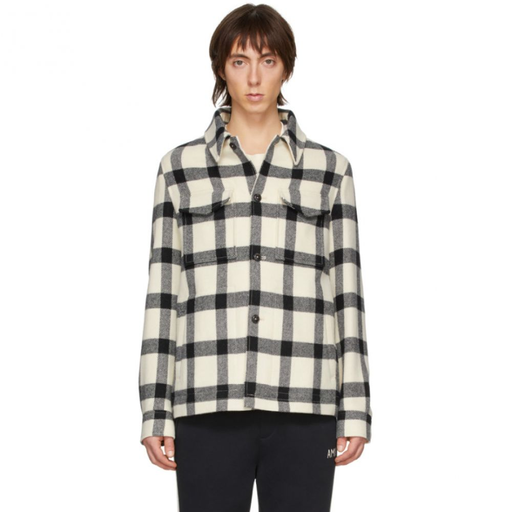 アミアレクサンドルマテュッシ AMI Alexandre Mattiussi メンズ ジャケット シャツジャケット アウター【Off-White Wool Shirt Jacket】Ecru/Noir