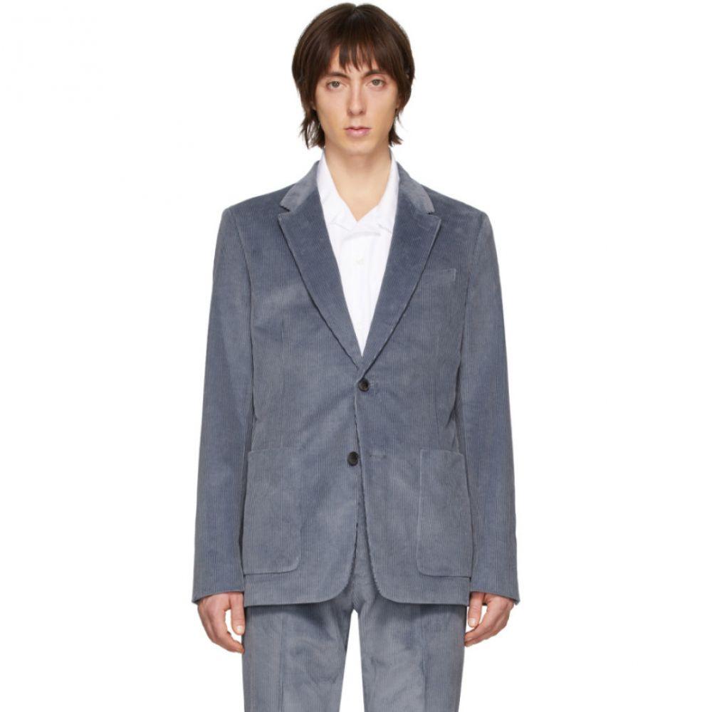 アミアレクサンドルマテュッシ AMI Alexandre Mattiussi メンズ スーツ・ジャケット アウター【Blue Corduroy Blazer】Steel blue