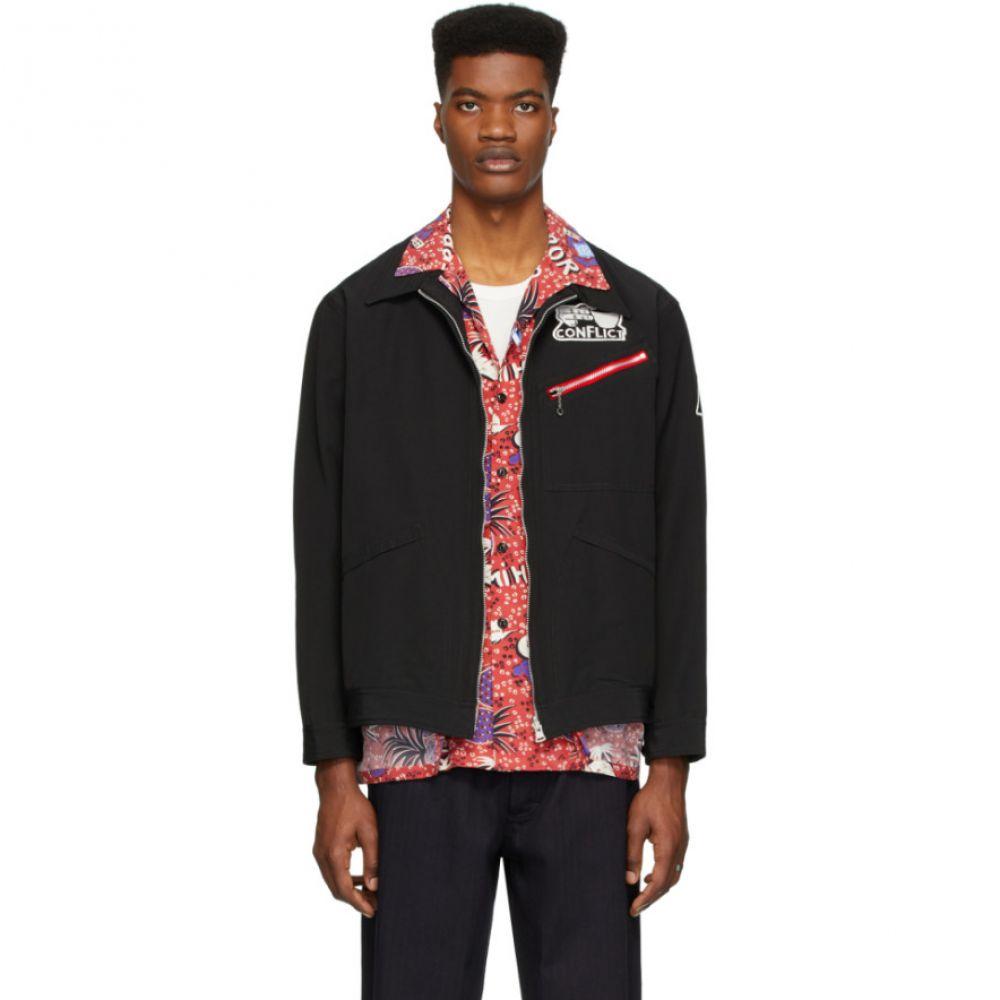 ミハラ ヤスヒロ Miharayasuhiro メンズ ジャケット シャツジャケット アウター【Reversible Black Inside Shirt Jacket】Black