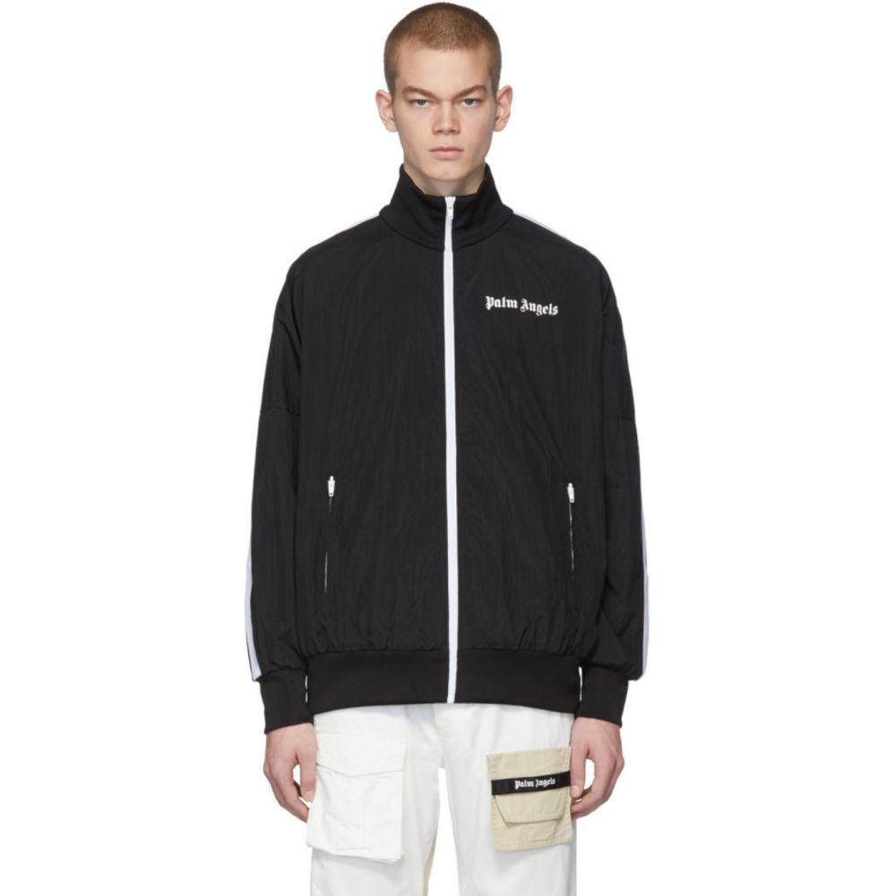 パーム エンジェルス Palm Angels メンズ ジャージ アウター【Black Over Logo Track Jacket】Black/White