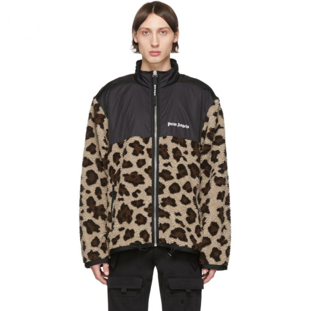 パーム エンジェルス Palm Angels メンズ ジャケット アウター【Beige & Black Animalier Jacket】Multi