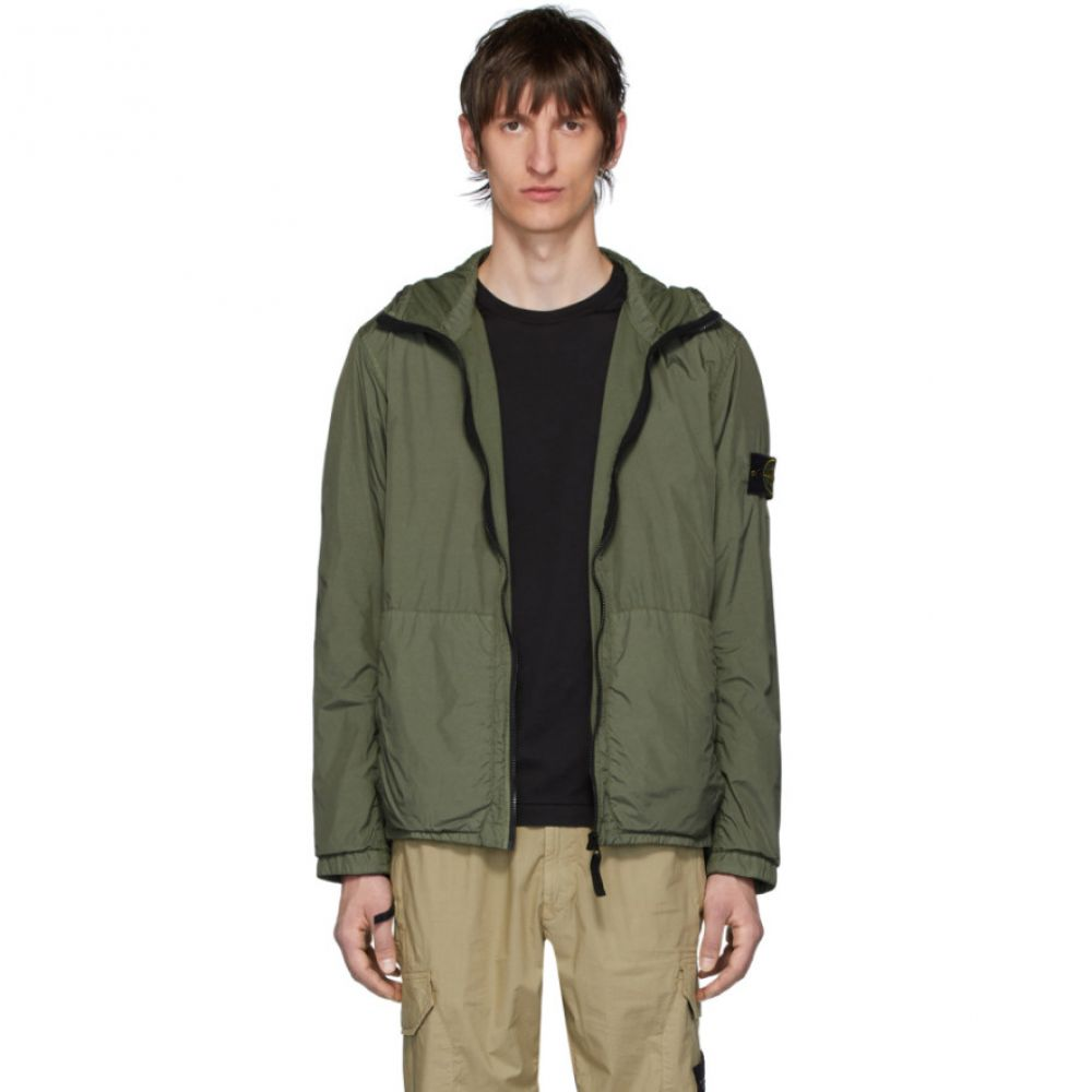 ストーンアイランド Stone Island メンズ コート フード アウター【Khaki Nylon Rep Hooded Coat】Olive