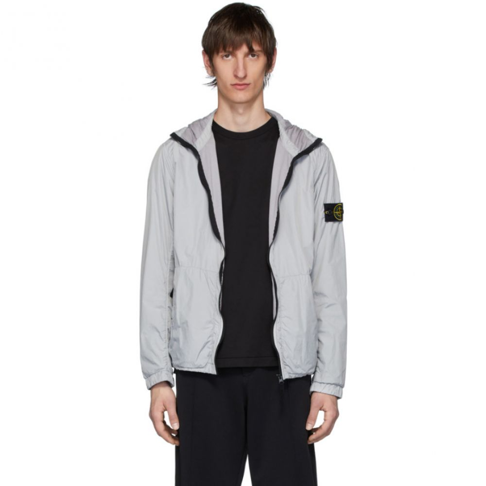 ストーンアイランド Stone Island メンズ コート フード アウター【Grey Nylon Rep Hooded Coat】Dust