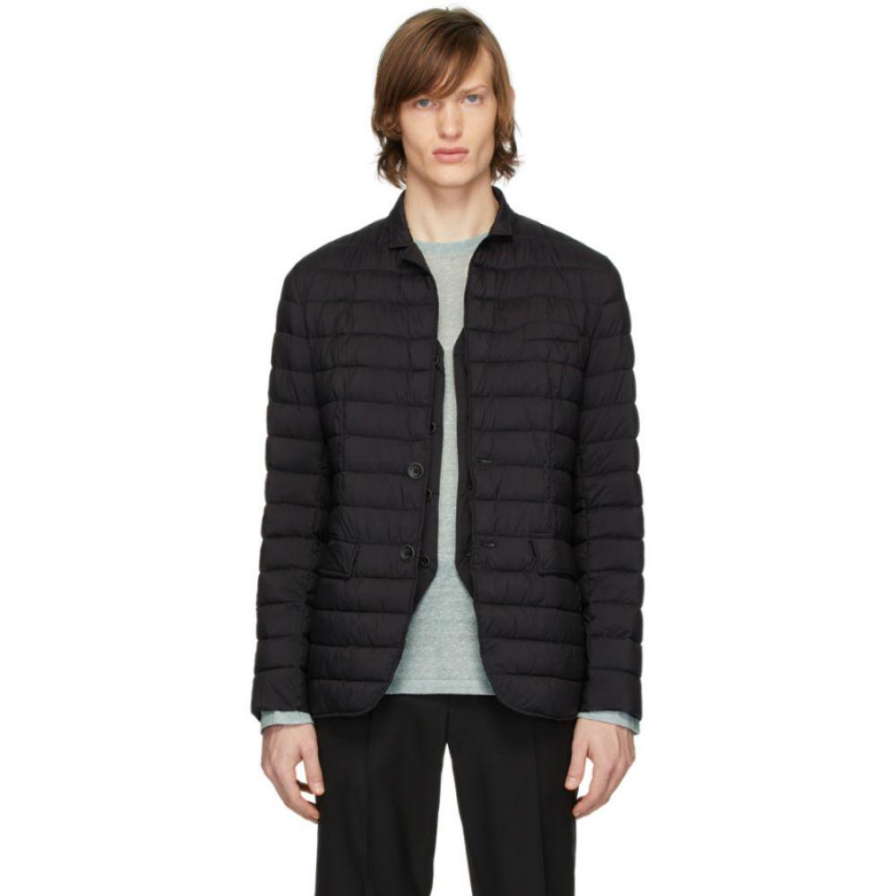 ヘルノ Herno メンズ ダウン・中綿ジャケット アウター【Black Matte Nylon Blazer Jacket】Black