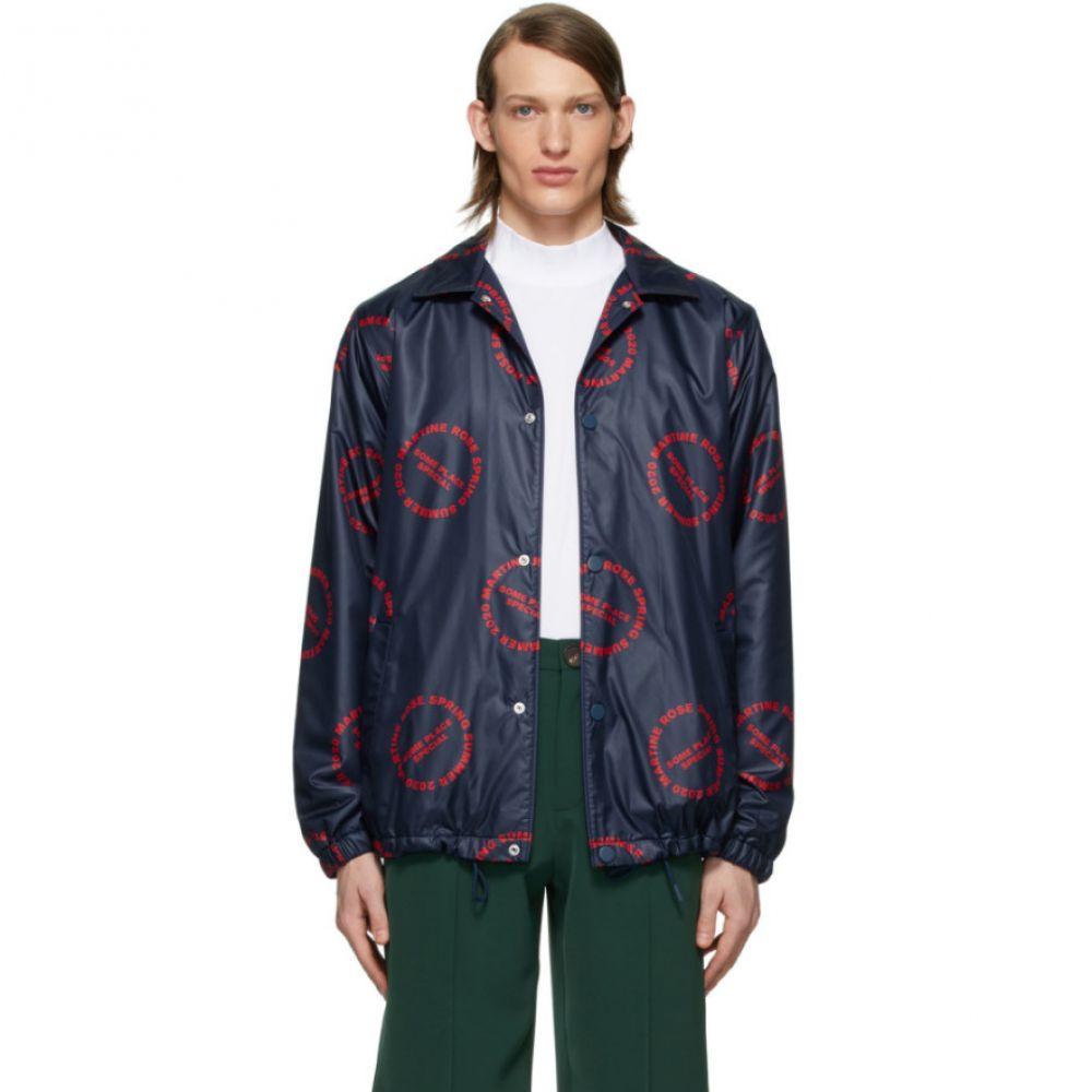 マーティン ローズ Martine Rose メンズ ジャケット コーチジャケット アウター【Navy Coach Jacket】Red print