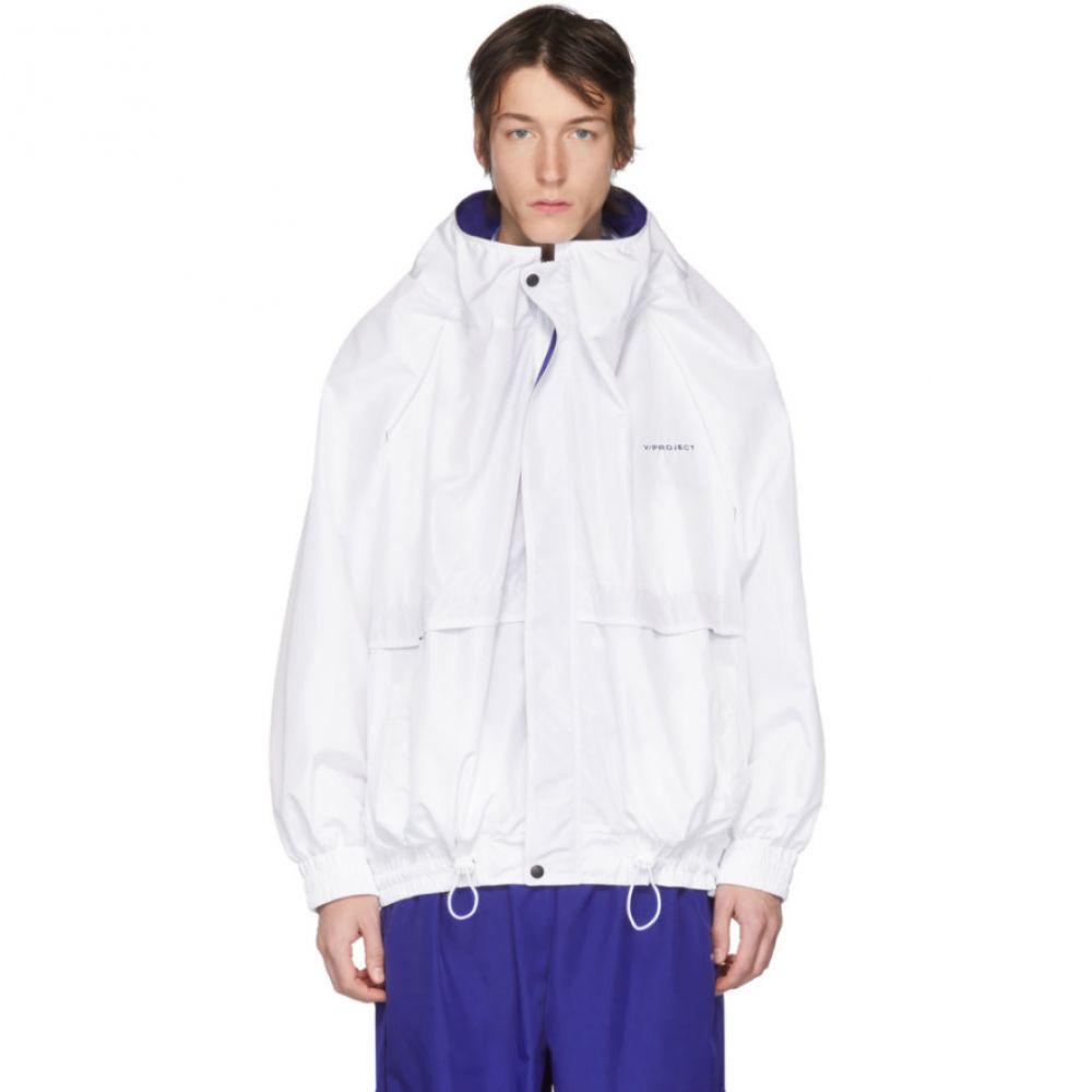 ワイプロジェクト Y/Project メンズ ジャージ アウター【White Oversized Track Jacket】White