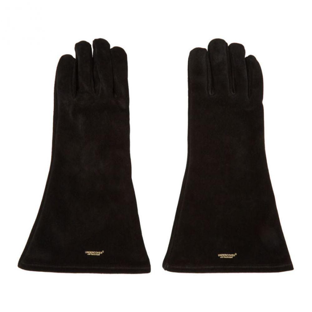 アンダーカバー Undercover メンズ 手袋・グローブ 【Black Suede Gloves】Black