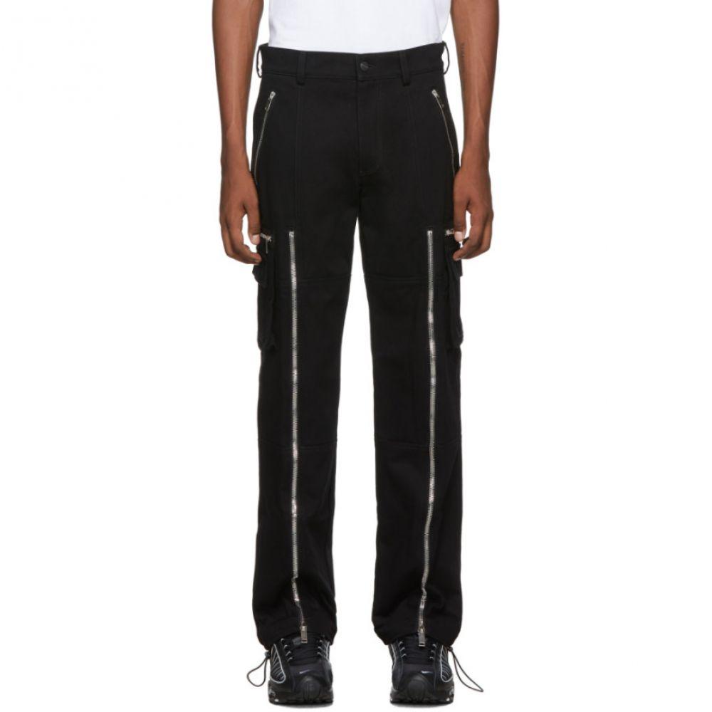 パーム エンジェルス Palm Angels メンズ カーゴパンツ ボトムス・パンツ【Black Zipped Cargo Pants】Black