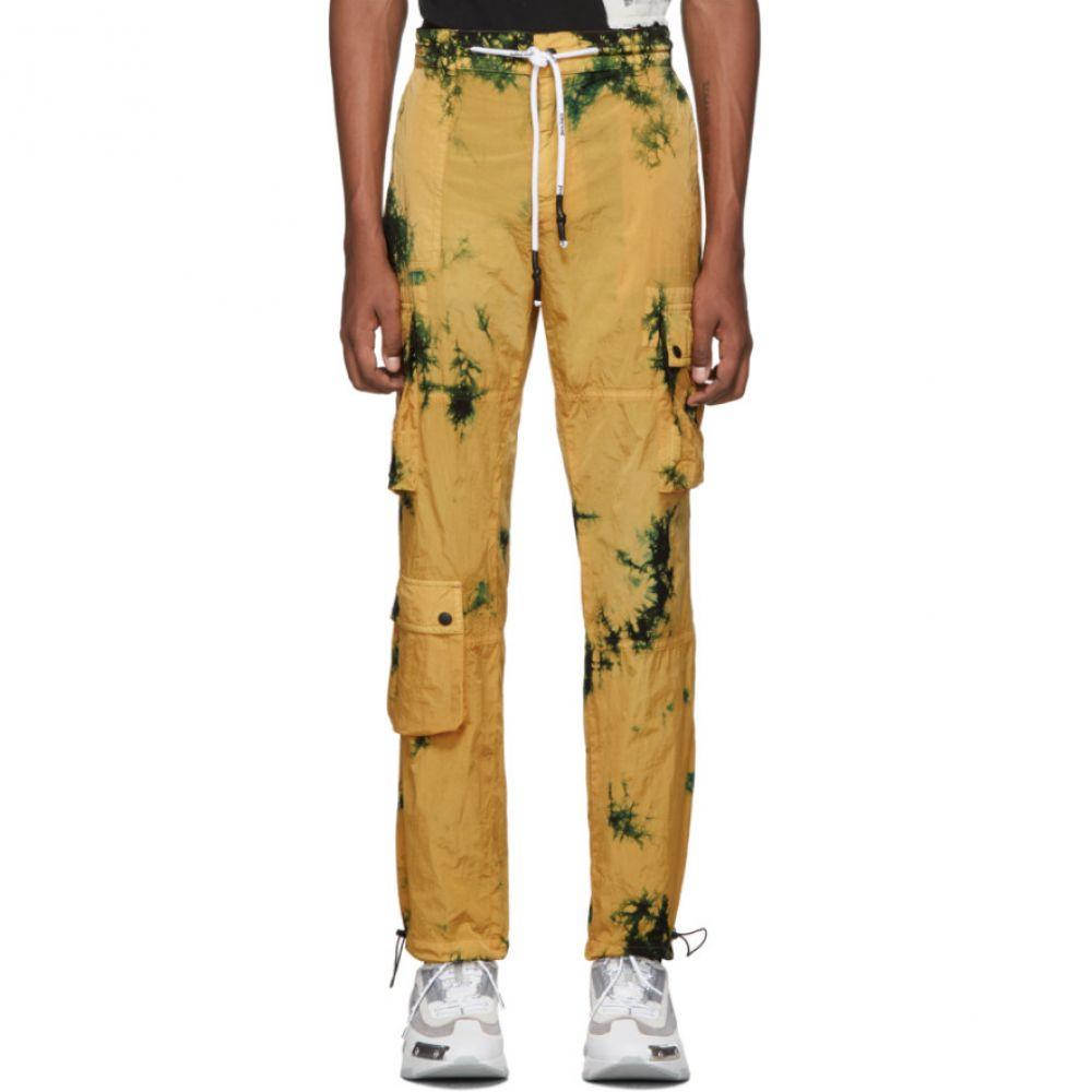 パーム エンジェルス Palm Angels メンズ カーゴパンツ ボトムス・パンツ【Yellow Tie-Dye Cargo Pants】Yellow all over