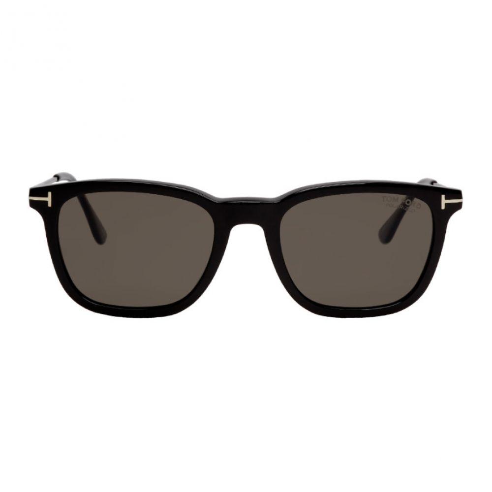 トム フォード Tom Ford メンズ メガネ・サングラス 【Black Polarized Arnaud Sunglasses】Black