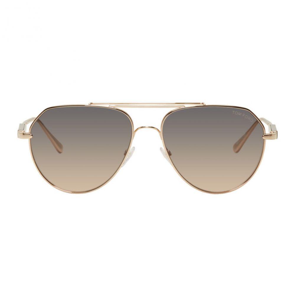 トム フォード メンズ ファッション小物 メガネ・サングラス Gold 【サイズ交換無料】 トム フォード Tom Ford メンズ メガネ・サングラス 【Gold Andes Sunglasses】Gold