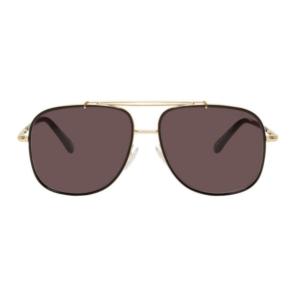 トム フォード Tom Ford メンズ メガネ・サングラス 【Black Benton Sunglasses】Smoke