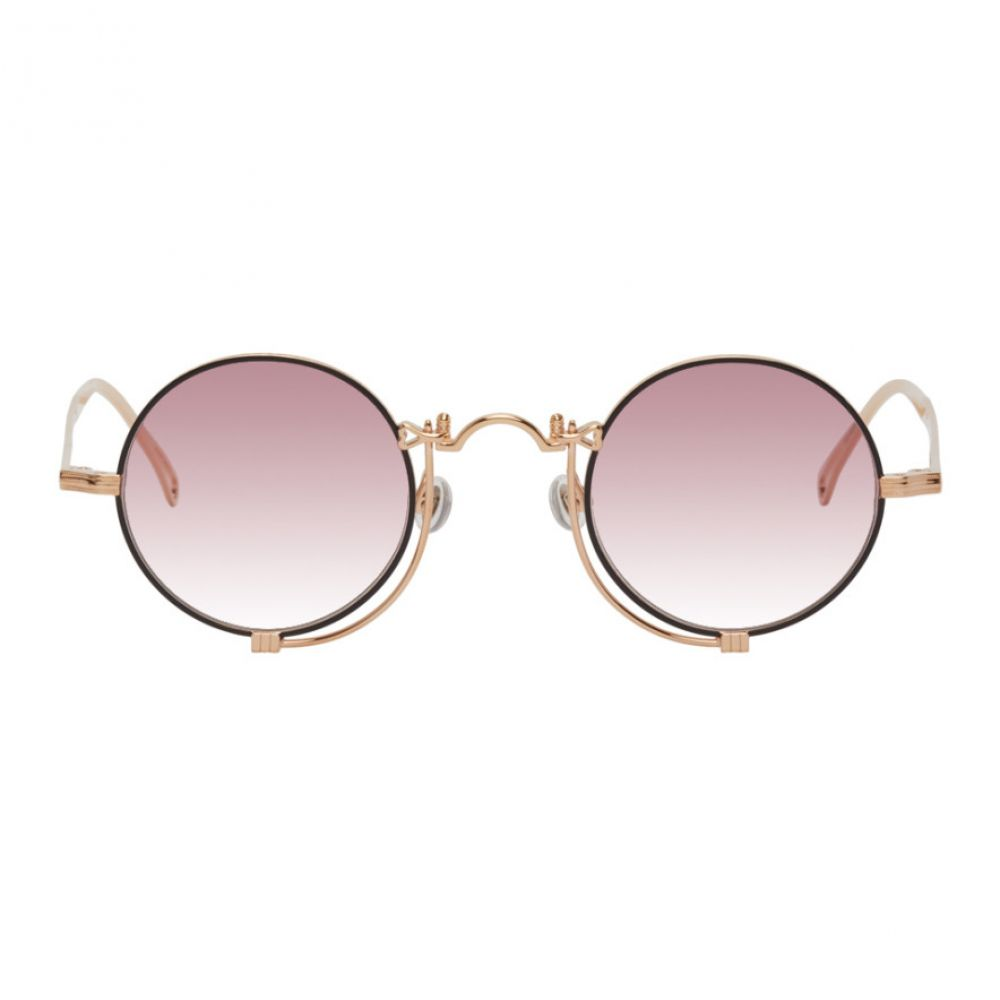 マツダ Matsuda メンズ メガネ・サングラス 【Rose Gold & Pink 10601H Sunglasses】Rose gold/Matte black