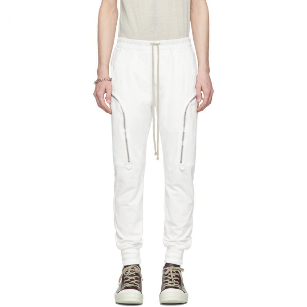 リック オウエンス Rick Owens メンズ カーゴパンツ ボトムス・パンツ【White Jog Cargo Pants】Chalk white