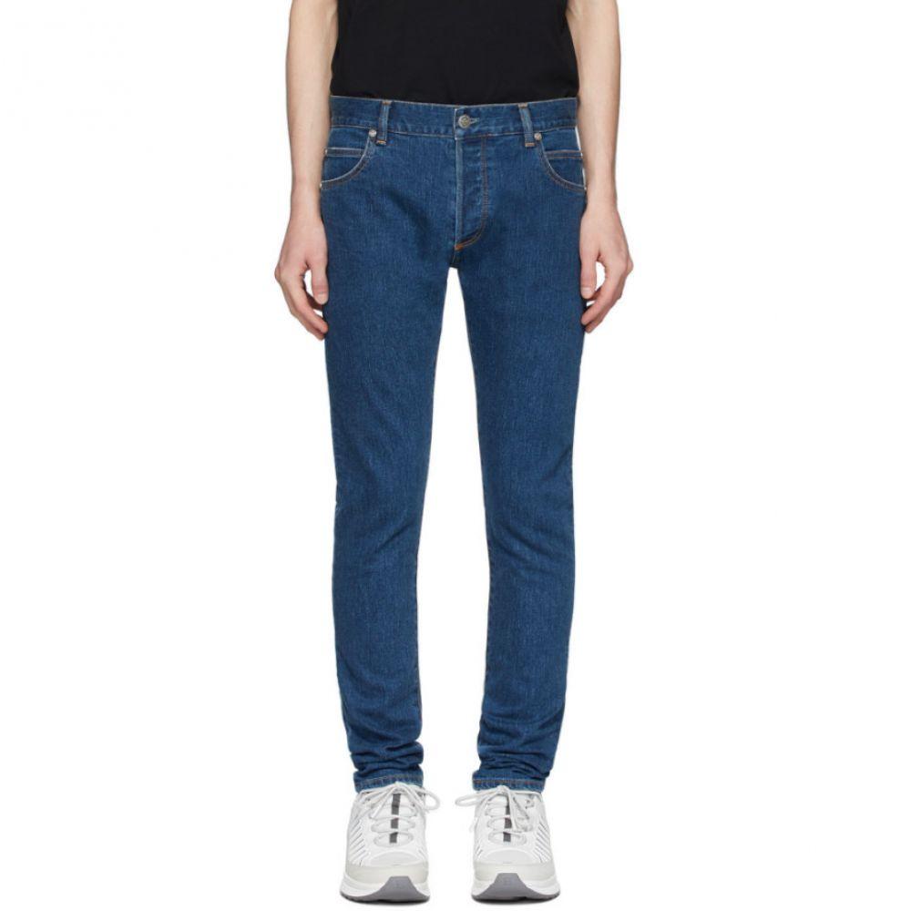 バルマン Balmain メンズ ジーンズ・デニム ボトムス・パンツ【Blue Slim Embossed Logo Jeans】Blue