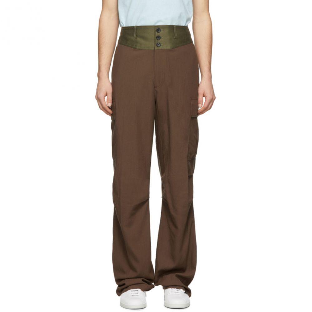 ランバン Lanvin メンズ カーゴパンツ ボトムス・パンツ【Brown Contrast Waistband Cargo Pants】Havana