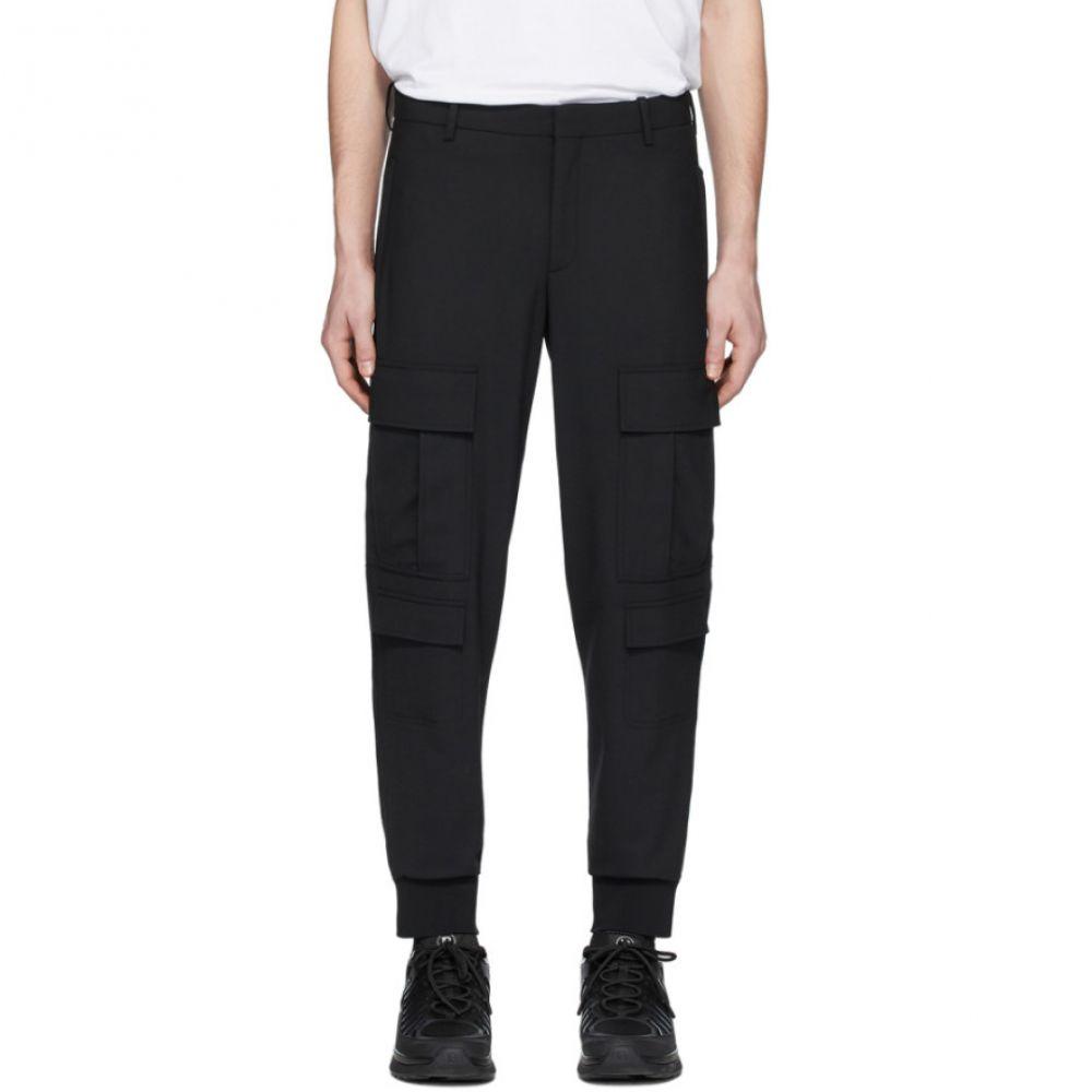 ニール バレット Neil Barrett メンズ カーゴパンツ ボトムス・パンツ【Black Wool Cargo Pants】Black