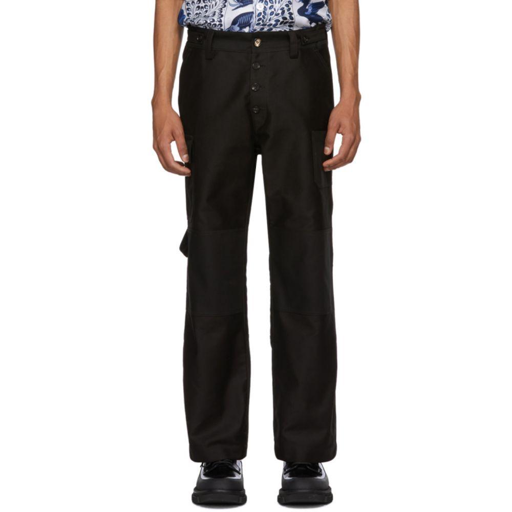 マルニ Marni メンズ カーゴパンツ ボトムス・パンツ【Black Moleskin Cargo Pants】Black