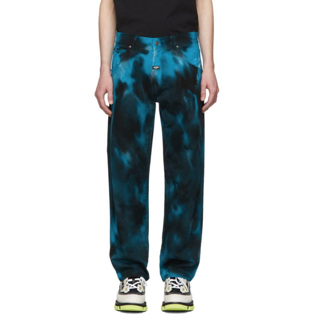 エムエスジーエム MSGM メンズ ジーンズ・デニム ボトムス・パンツ【Multicolor Tie-Dye Jeans】Bluette