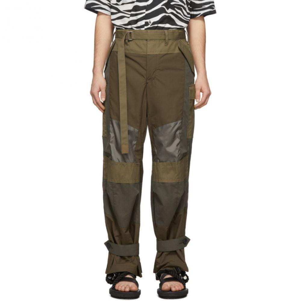 サカイ Sacai メンズ カーゴパンツ ボトムス・パンツ【Khaki Fabric Combo Pants】Khaki