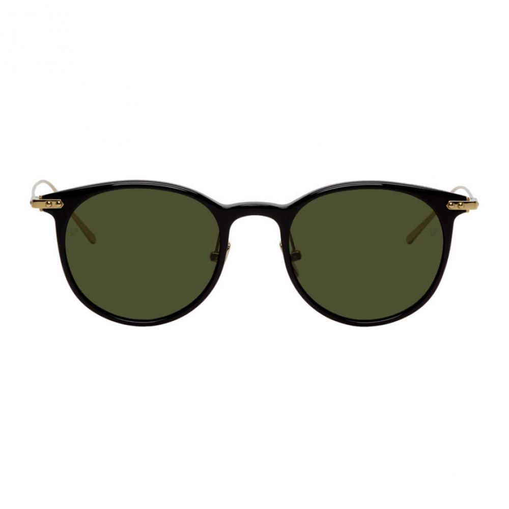 リンダ ファロー Linda Farrow Luxe メンズ メガネ・サングラス 【Black & Gold Linear Childs C10 Sunglasses】Black