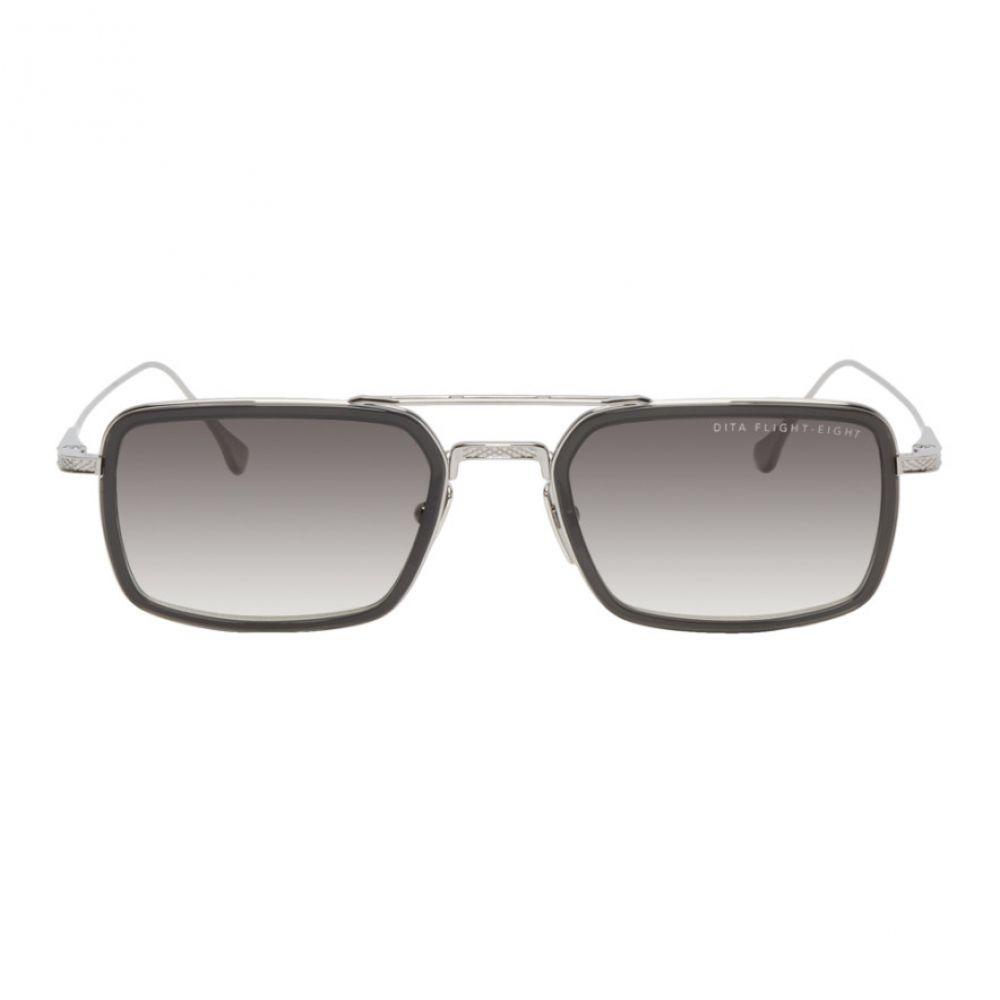 ディータ Dita メンズ メガネ・サングラス 【Silver & Grey Flight-Eight Sunglasses】Smoke grey crystal/Black palladium/Dark grey to clear