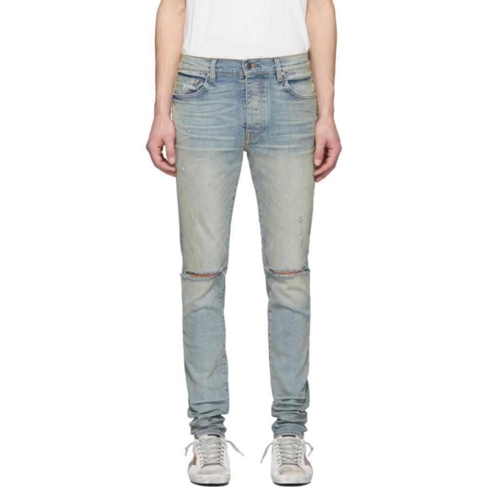 アミリ Amiri メンズ ジーンズ・デニム ボトムス・パンツ【Indigo Slash Jeans】Dust indigo