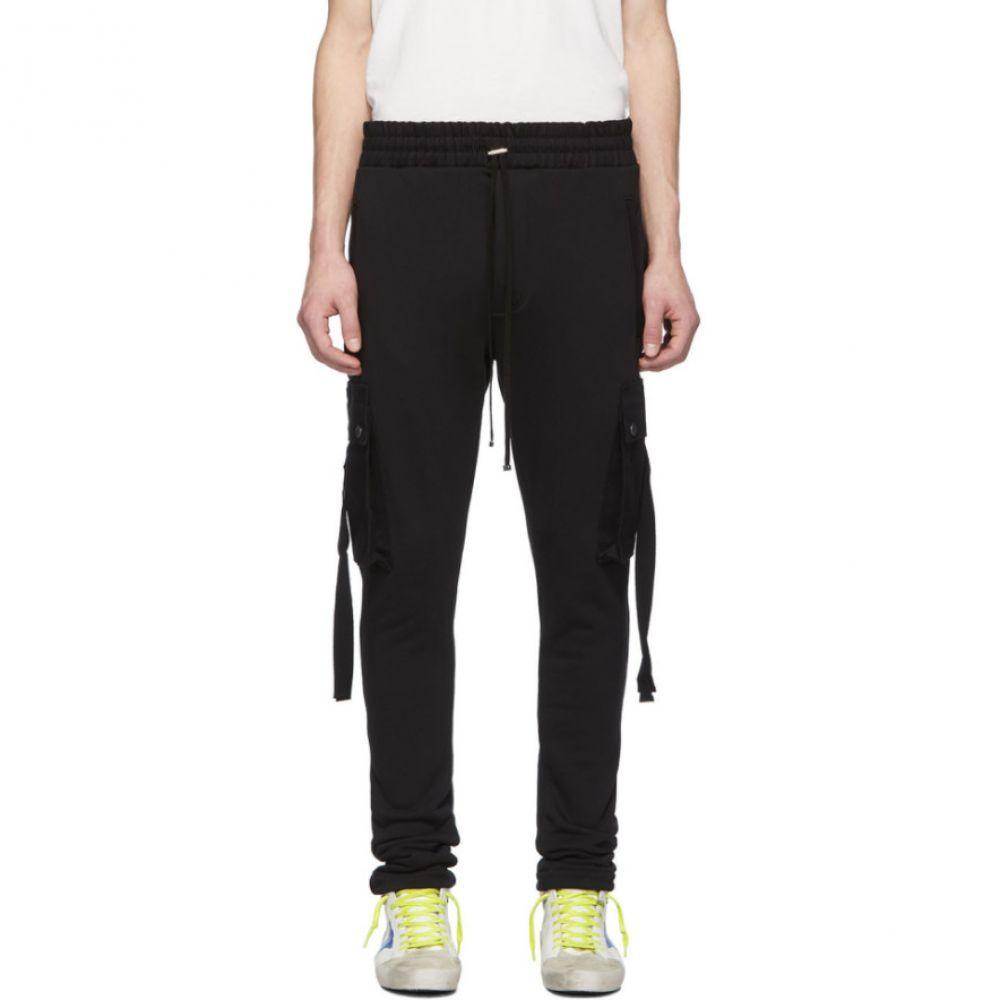 アミリ Amiri メンズ カーゴパンツ ボトムス・パンツ【Black Sweat Cargo Trousers】Black