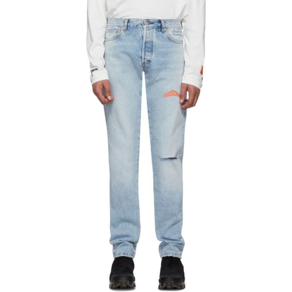 ヘロン プレストン Heron Preston メンズ ジーンズ・デニム ボトムス・パンツ【Blue 5-Pocket Jeans】Vintage wash