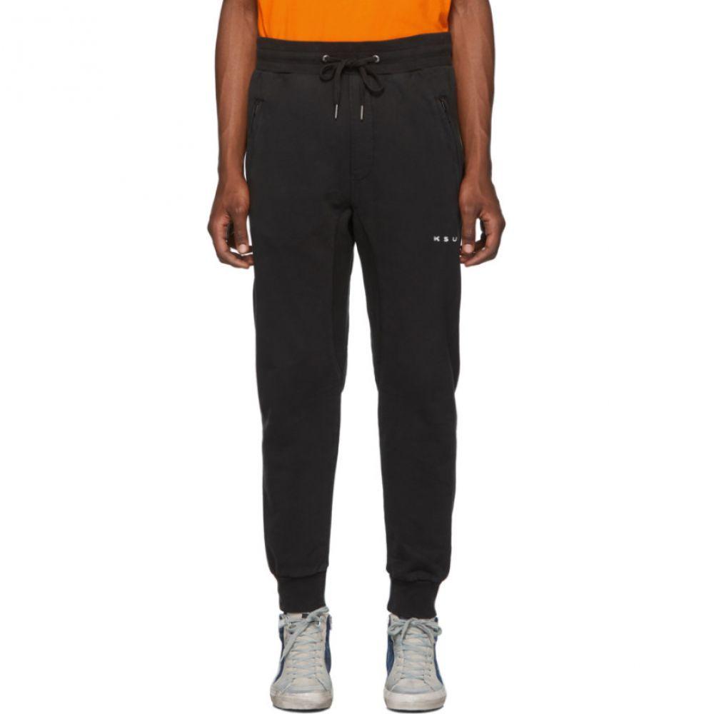 スビ Ksubi メンズ スウェット・ジャージ ボトムス・パンツ【SSENSE Exclusive Black Logo Lounge Pants】Black