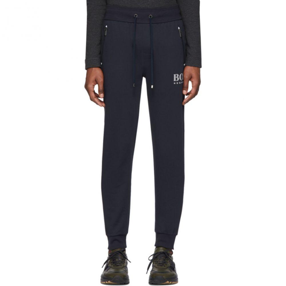 ヒューゴ ボス Boss メンズ スウェット・ジャージ ボトムス・パンツ【Navy Cotton Track Pants】Black