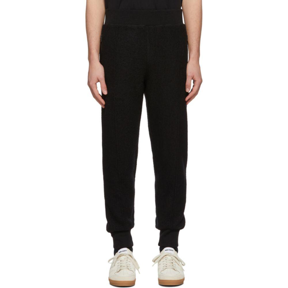 アミアレクサンドルマテュッシ AMI Alexandre Mattiussi メンズ スウェット・ジャージ ボトムス・パンツ【Black Boiled Wool Lounge Pants】Black