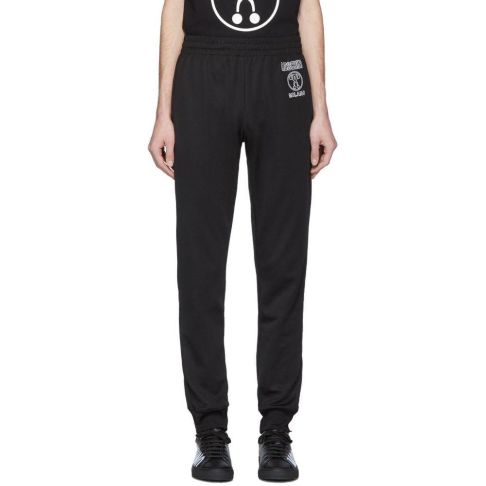 モスキーノ Moschino メンズ スウェット・ジャージ ボトムス・パンツ【Black Double Question Mark Lounge Pants】Black