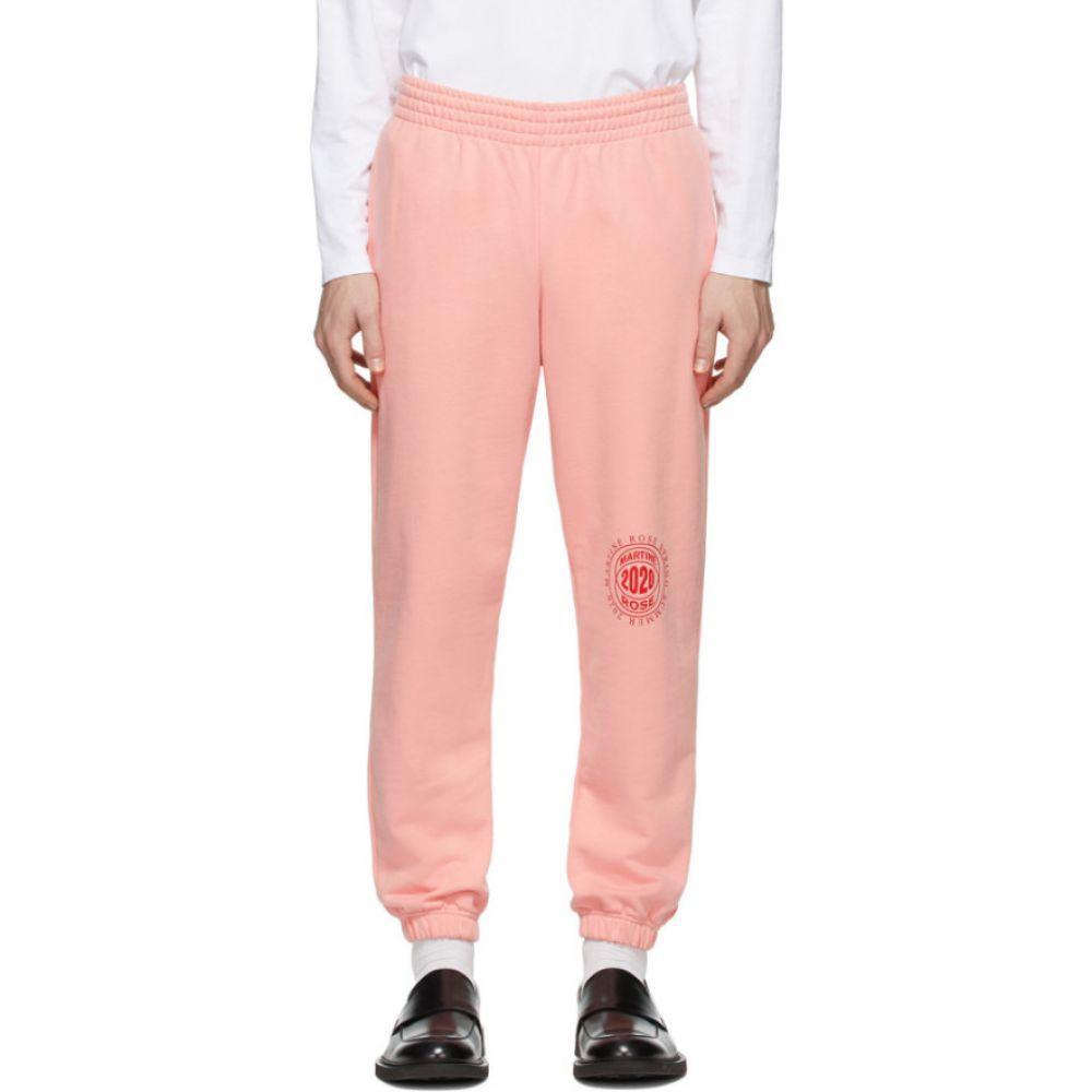 マーティン ローズ Martine Rose メンズ スウェット・ジャージ ボトムス・パンツ【Pink Slim Lounge Pants】Peach