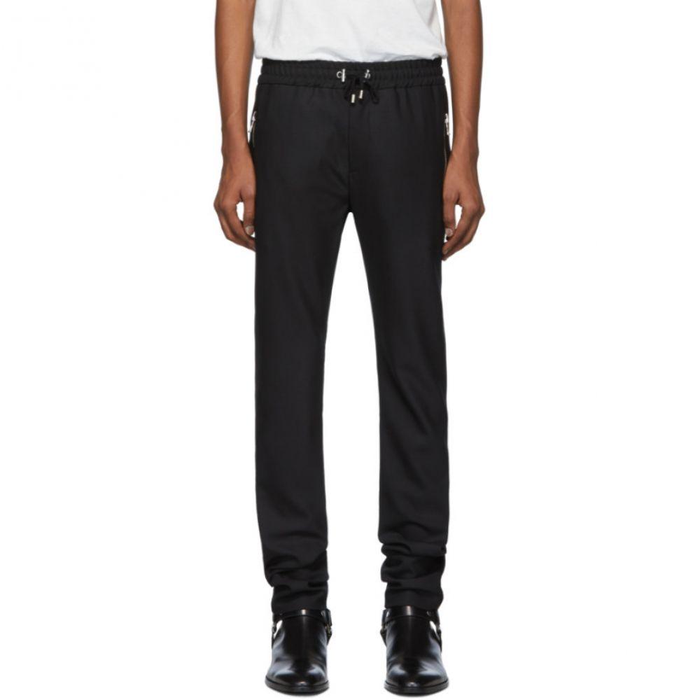 バルマン Balmain メンズ スウェット・ジャージ ボトムス・パンツ【Black Satin Lounge Pants】Black