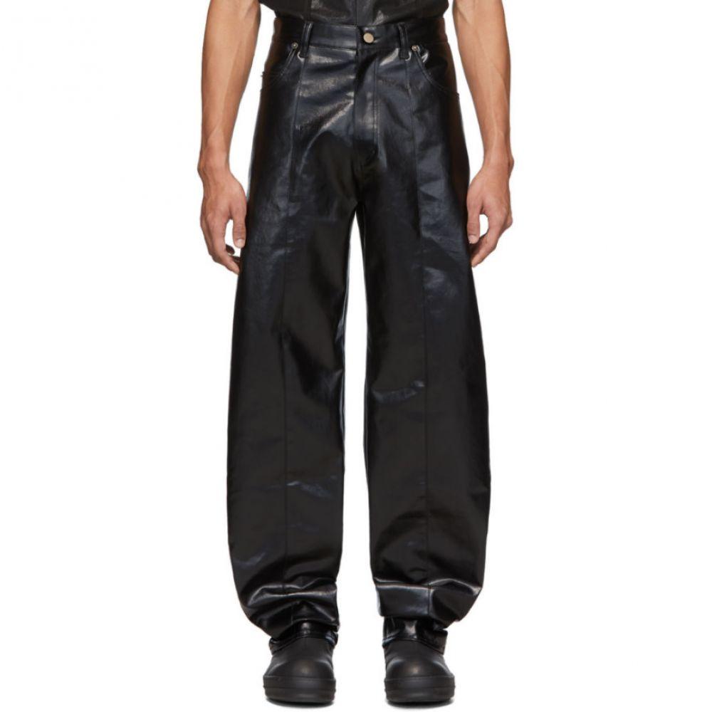キーンキー Keenkee メンズ ボトムス・パンツ 【Black Volume Trousers】Black high gloss