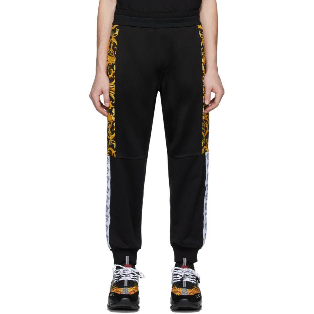 ヴェルサーチ Versace メンズ スウェット・ジャージ ボトムス・パンツ【Black Barocco Lounge Pants】Black