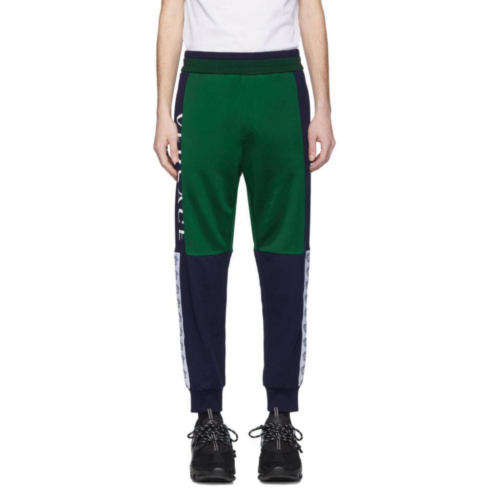 ヴェルサーチ Versace メンズ スウェット・ジャージ ボトムス・パンツ【Green & Navy Compilation Lounge Pants】Green/Blue