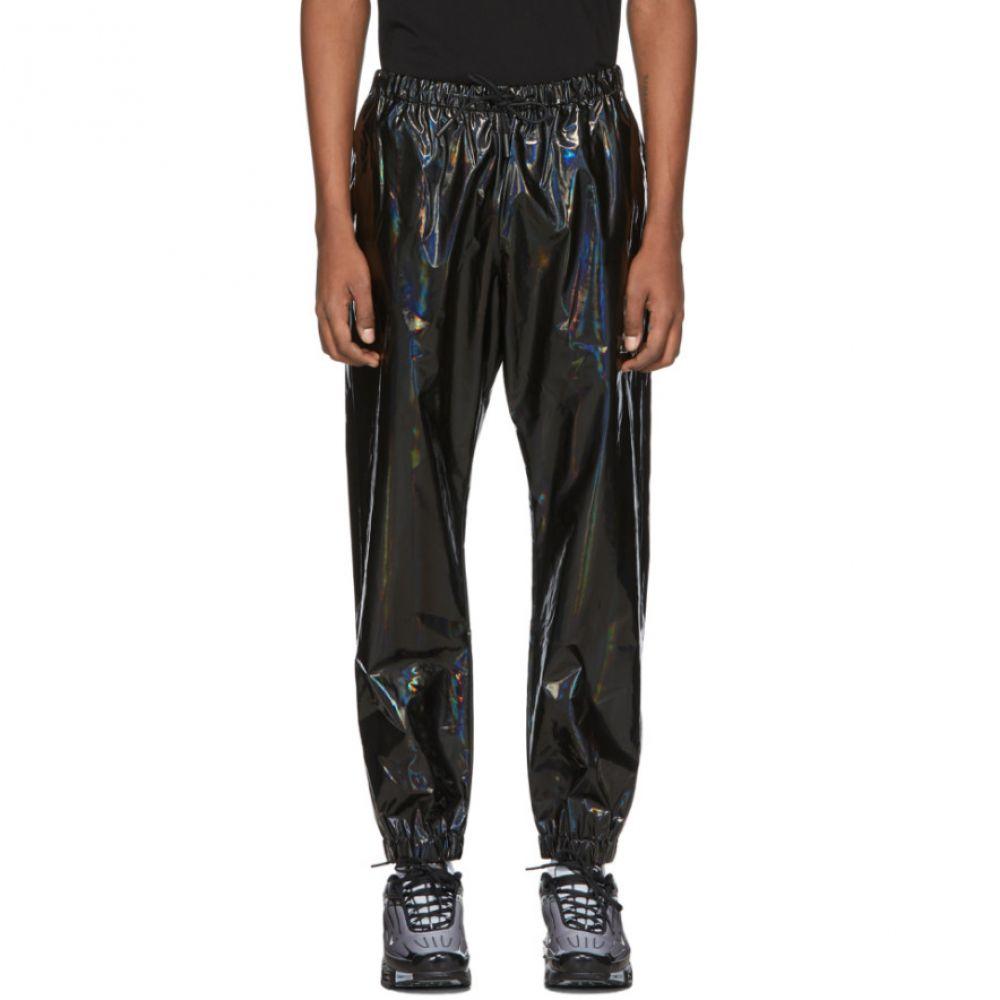 マルセロバーロン Marcelo Burlon County of Milan メンズ スウェット・ジャージ ボトムス・パンツ【Black Iridescent Lounge Pants】Black